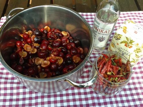Kirschenmarmelade Zutaten