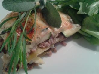 Zucchini Kräuter Lasagne