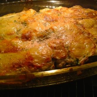 Zucchinilasagne gebacken