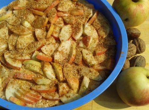 Apfelkuchen vorm Backen