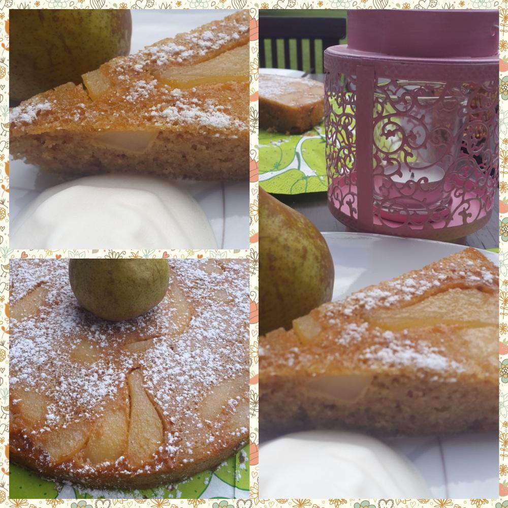 Gestürzter Birnenkuchen