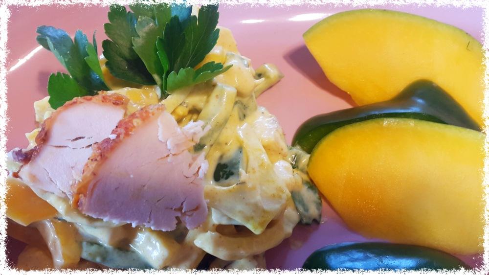 Hühnchensalat mit Mango