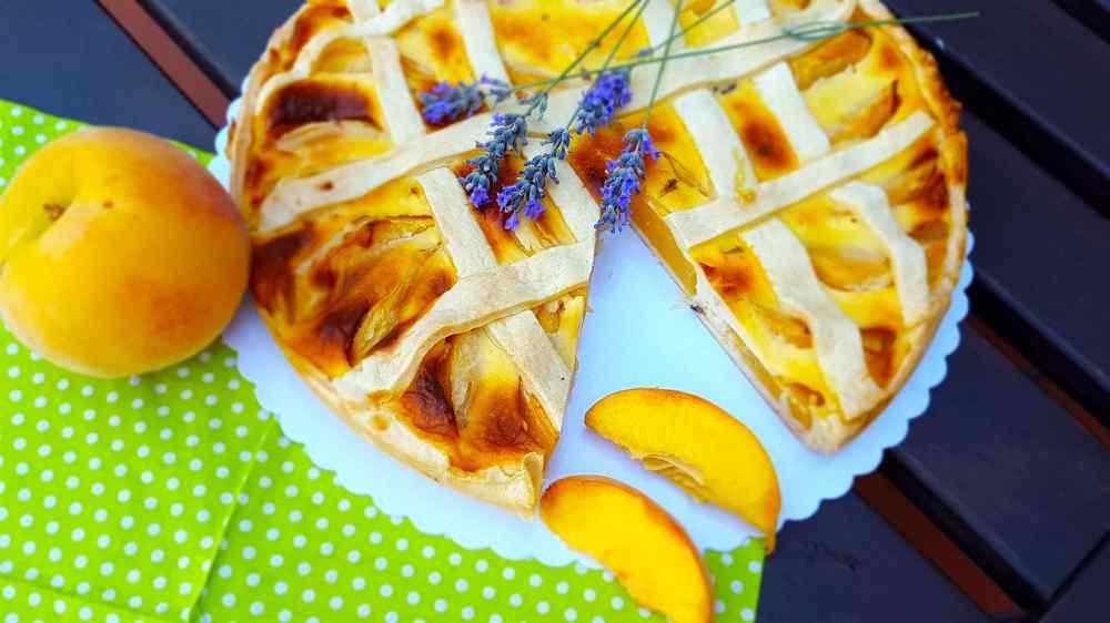 Pfirsich Lavendel Tarte, Pfirsichkuchen
