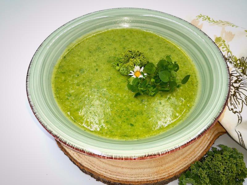 Grünkohl Kartoffel Vogelmiere Suppe